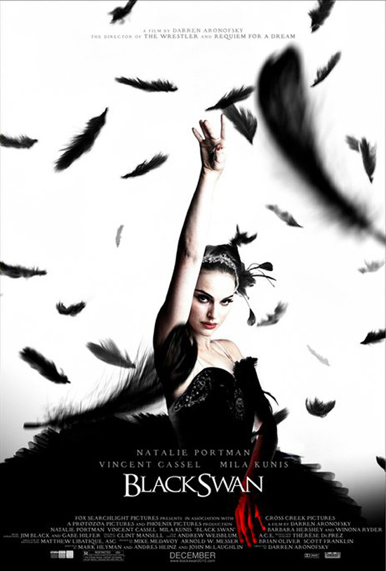 "but the new poster for ""Black Swan"" made me think of Alfred Hitchcock's"