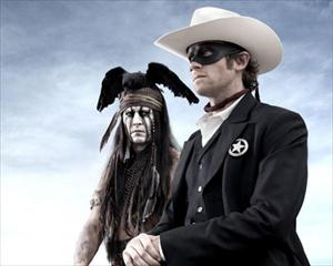 johnny depp as tonto in lone ranger imaage