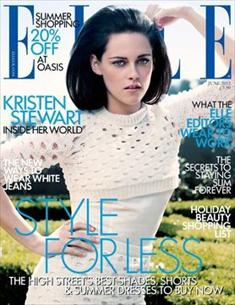 kristen stewart on elle uk 2012 cover image